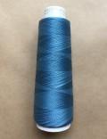 高級スーピマ綿使用 インディゴ染 ミシン刺繍糸 ダンガリー色<淡色> 1,000m巻