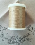 縫糸・キルトにも使える綿100% 綿糸 30番手 300M巻 ベージュ