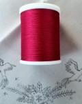 縫糸・キルトにも使える綿100% 綿糸 30番手 300M巻 ワインレッド