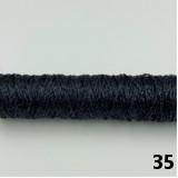 ステッチ&ステッチ#8 シガレット巻 25m (35/黒ラメ)