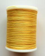 縫糸・キルトにも使える綿100%段染め糸 30番手 300M巻 〈X〉 【黄色・みかん色】