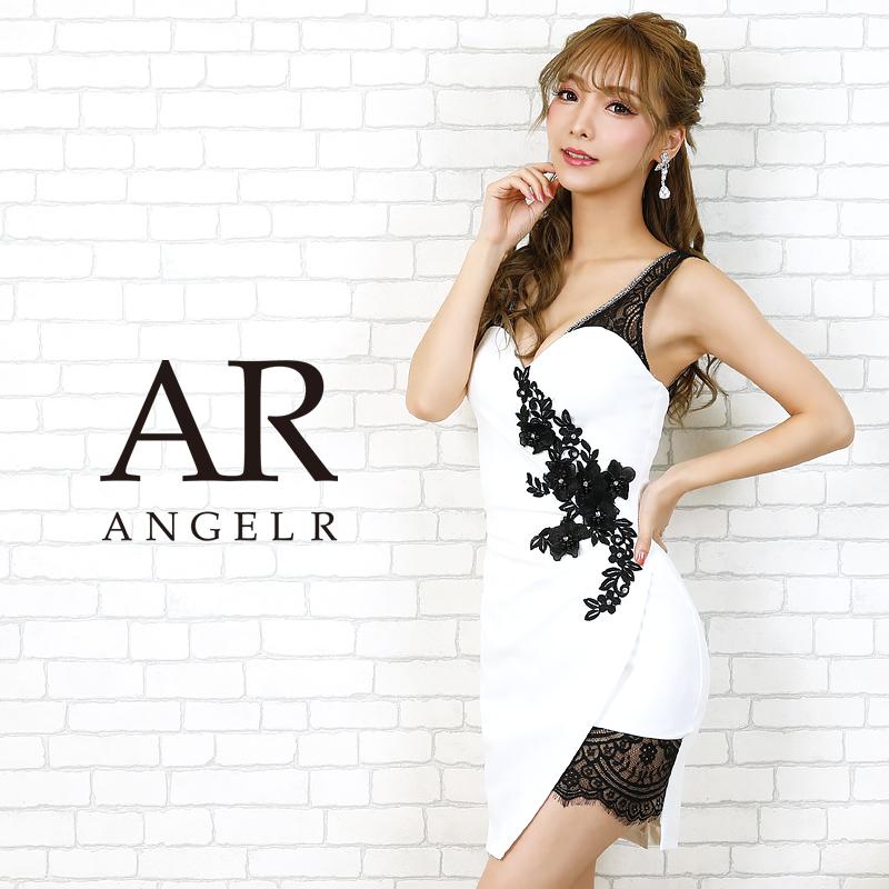 [フラワーモチーフレースアシンメトリータイトミニドレス]AngelR(エンジェルアール)|AR20203