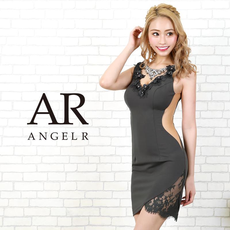 [デコルテネックレスデザインタイトミニドレス]AngelR(エンジェルアール)|AR20205