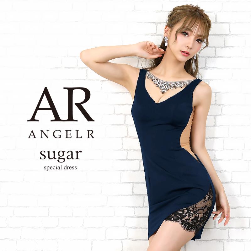 【予約】sugar(シュガー)コラボドレス[デコルテネックレスデザインタイトミニドレス]AngelR(エンジェルアール)|AR20208【3月上旬~中旬頃より発送】