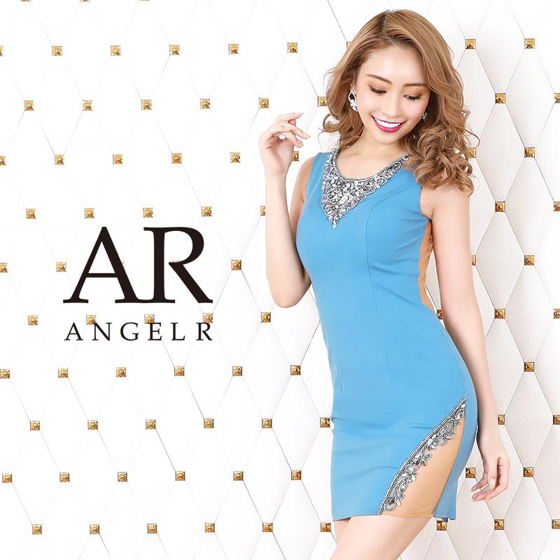 [デコルテビジューカッティングメッシュタイトミニドレス]AngelR(エンジェルアール)|AR20212