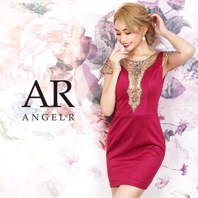 [メッシュスリーブビジューデザインタイトミニドレス]AngelR(エンジェルアール) AR20224