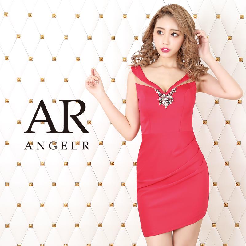 [フロントビジューシアーデザインタイトミニドレス]AngelR(エンジェルアール)|AR20312