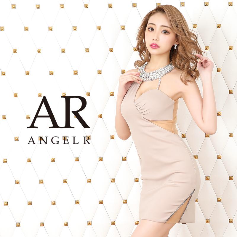 【予約[4月上旬~中旬頃より発送][(サックス/S・M)4月下旬から5月上旬発送]】】[アシンメトリーカッティングデザインタイトミニドレス]AngelR(エンジェルアール)|AR20313