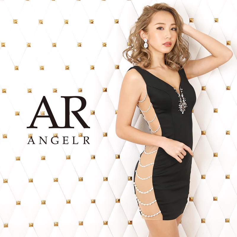 [サイドパールビジューデザインタイトミニドレス]AngelR(エンジェルアール)|AR20314