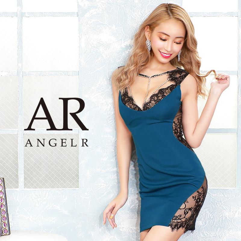 [ラインビジューレースカッティングタイトミニドレス]AngelR(エンジェルアール)|AR20347