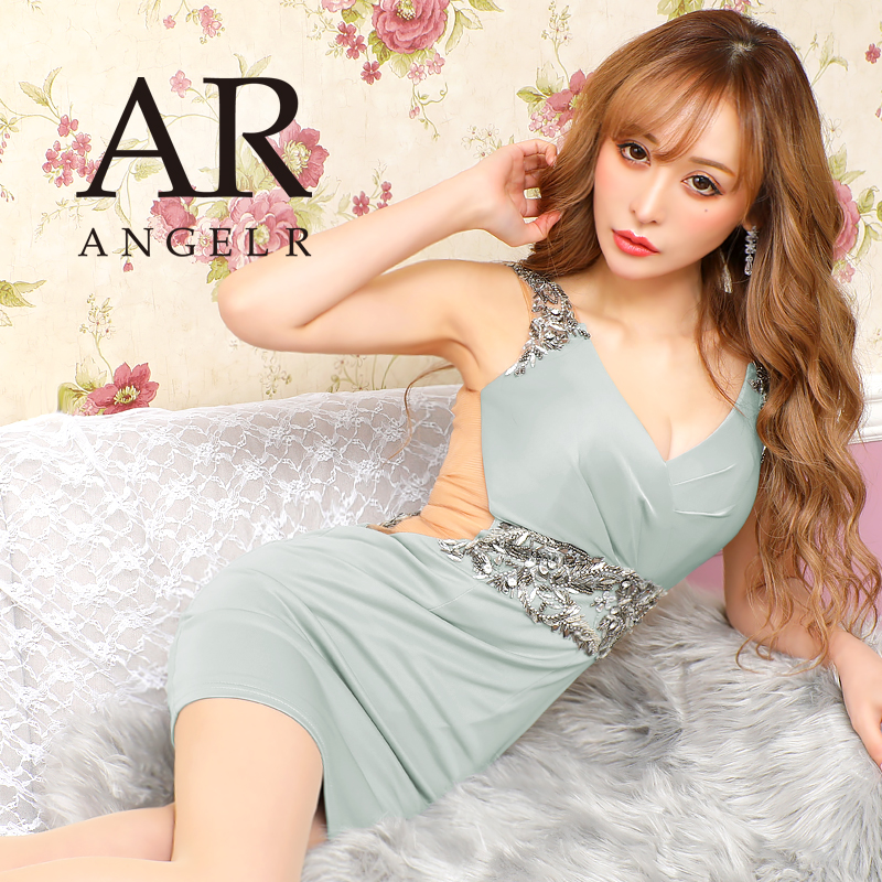 [ウエストビジューサイドシアータイトミニドレス]AngelR(エンジェルアール) AR20807