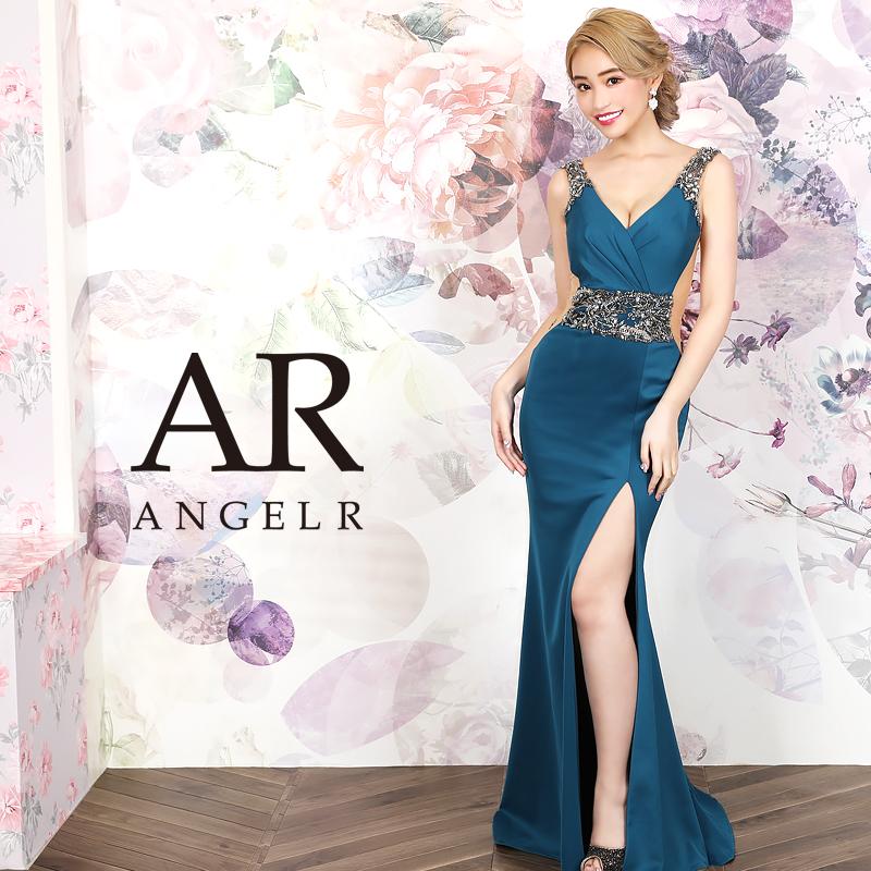 [ウエストビジューサイドシアータイトロングドレス]AngelR(エンジェルアール)|AR20827