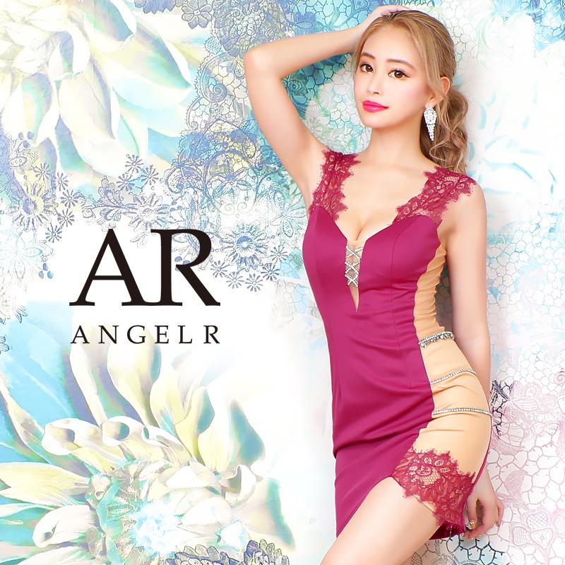 [サイドメッシュレース&ビジュータイトミニドレス]AngelR(エンジェルアール) AR20832