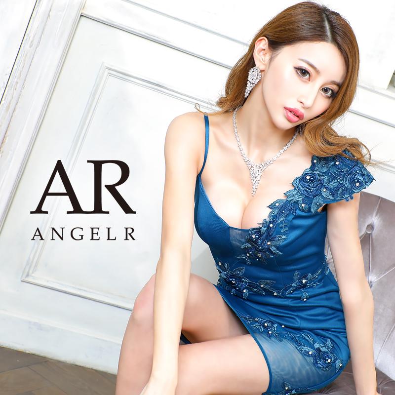 [アシンメトリーフラワーモチーフタイトミニドレス]AngelR(エンジェルアール) AR20833