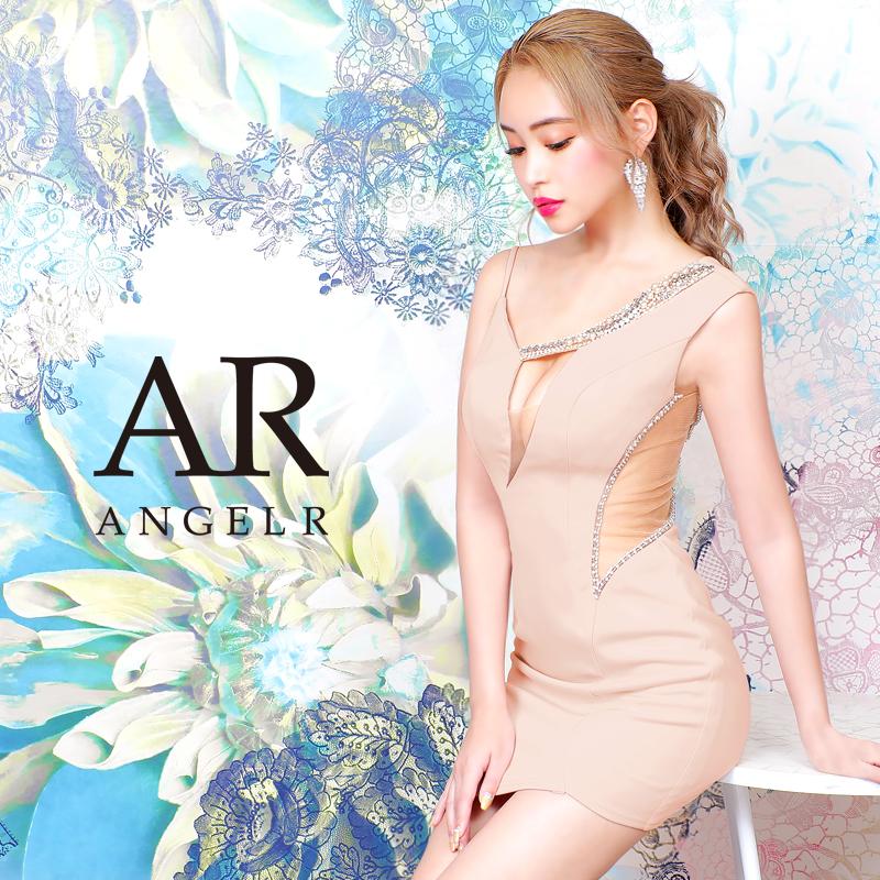 [アシンメトリービジューカッティングタイトミニドレス]AngelR(エンジェルアール)|AR20834