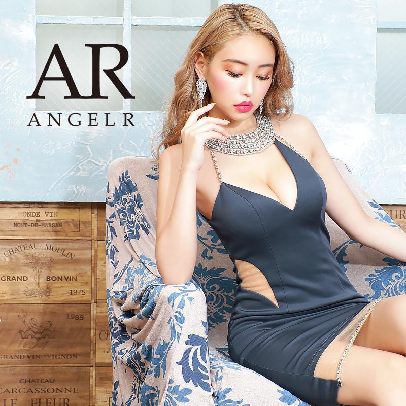 [アシンメトリーデコルテビジュータイトミニドレス]AngelR(エンジェルアール)|AR20835
