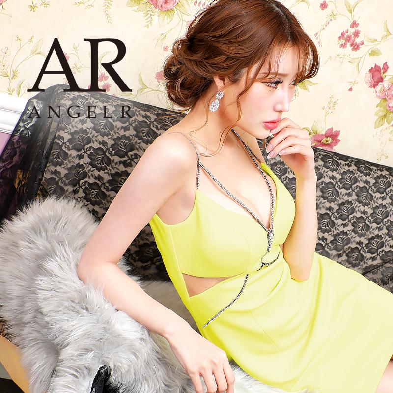 【予約/3月下旬から4月上旬より発送】[バストメッシュビジューデザインタイトミニドレス]AngelR(エンジェルアール)|AR21206