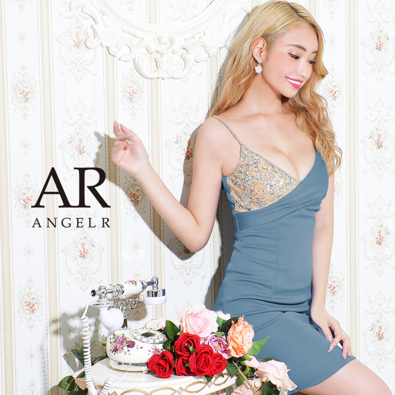[アシンメトリービジューデザインタイトミニドレス]AngelR(エンジェルアール) AR21218