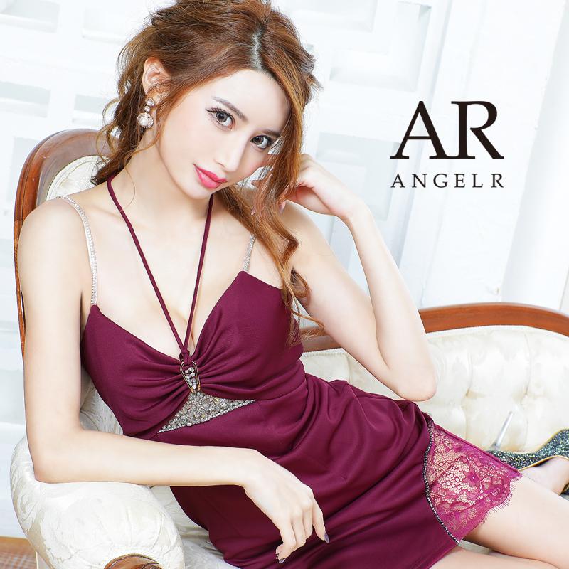 [フロントビジューホルターネックタイトミニドレス]AngelR(エンジェルアール)|AR21226