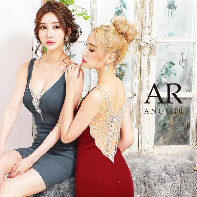 [バックビジューデザインタイトミニドレス]AngelR(エンジェルアール)|AR21235
