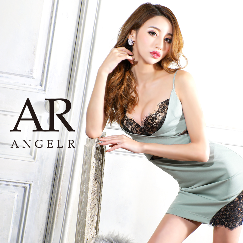 【予約/1月中旬から下旬より発送】[バストレースクロスデザインタイトミニドレス]AngelR(エンジェルアール)|AR21301