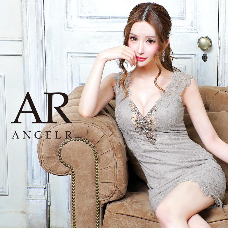 【予約/1月中旬から下旬より発送】[バストビジューフラワーレースデザインタイトミニドレス]AngelR(エンジェルアール)|AR21303