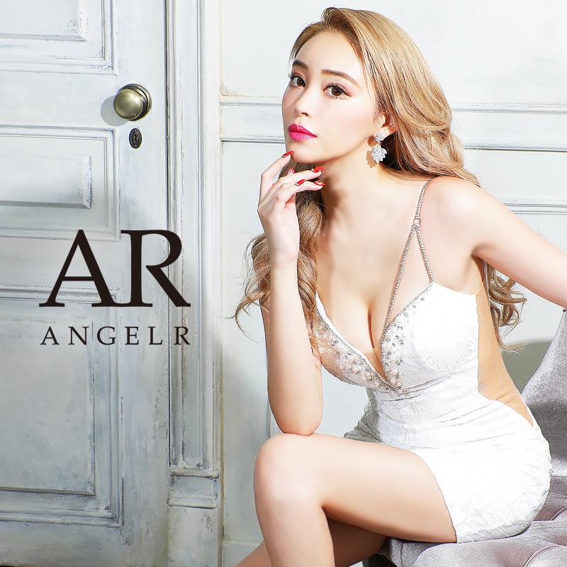[フラワー刺繍アシンメトリータイトミニドレス]AngelR(エンジェルアール) AR21304