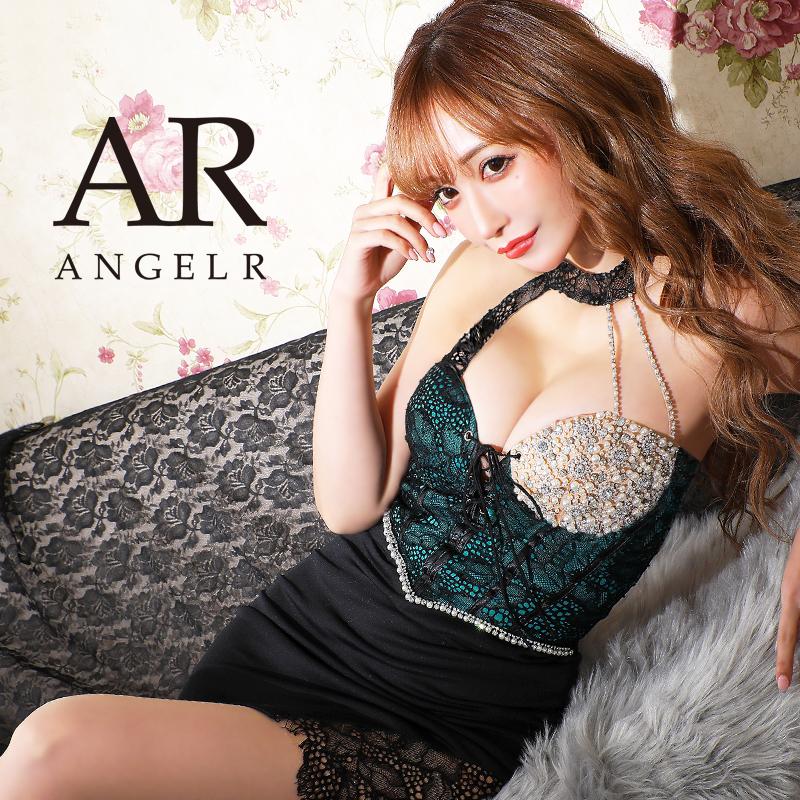 [レース&ビジューアシンメトリータイトミニドレス]AngelR(エンジェルアール)|AR21312