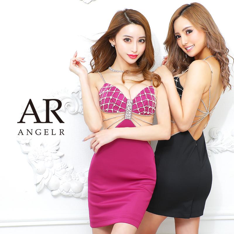 [クロスビジューデザインタイトミニドレス]AngelR(エンジェルアール) AR21322