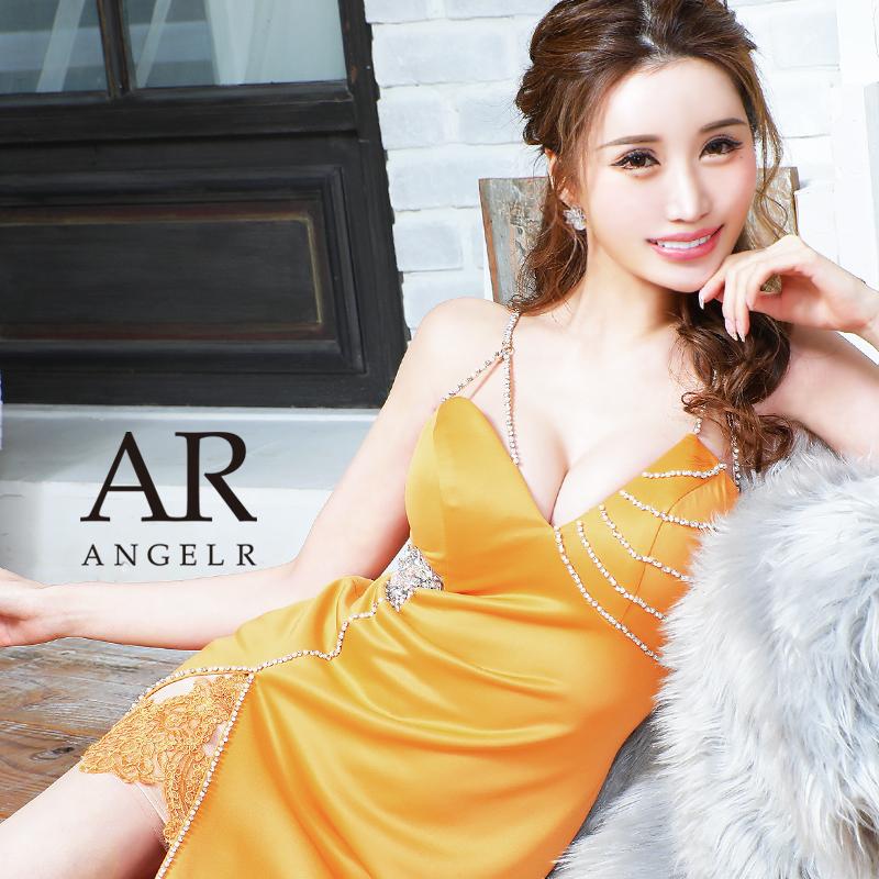 【予約/9月中旬から9月下旬より発送】[アシンメトリーハートビジューデザインタイトミニドレス]AngelR(エンジェルアール)|AR21336