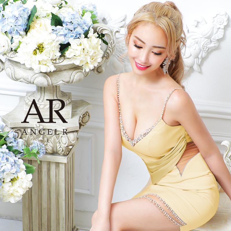 [アシンメトリーシアーデザインタイトミニドレス]AngelR(エンジェルアール)|AR21818