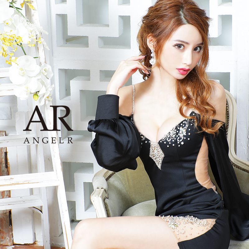[オフショルロングスリーブタイトミニドレス]AngelR(エンジェルアール) AR21834
