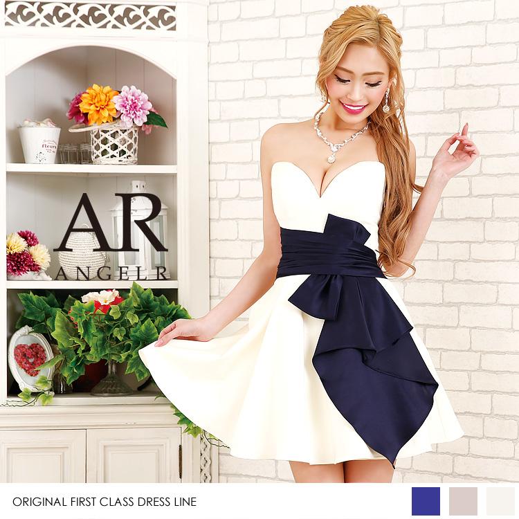 [ハートカットリボンモチーフワンピースドレス]Angel R(エンジェルアール)|AR8220