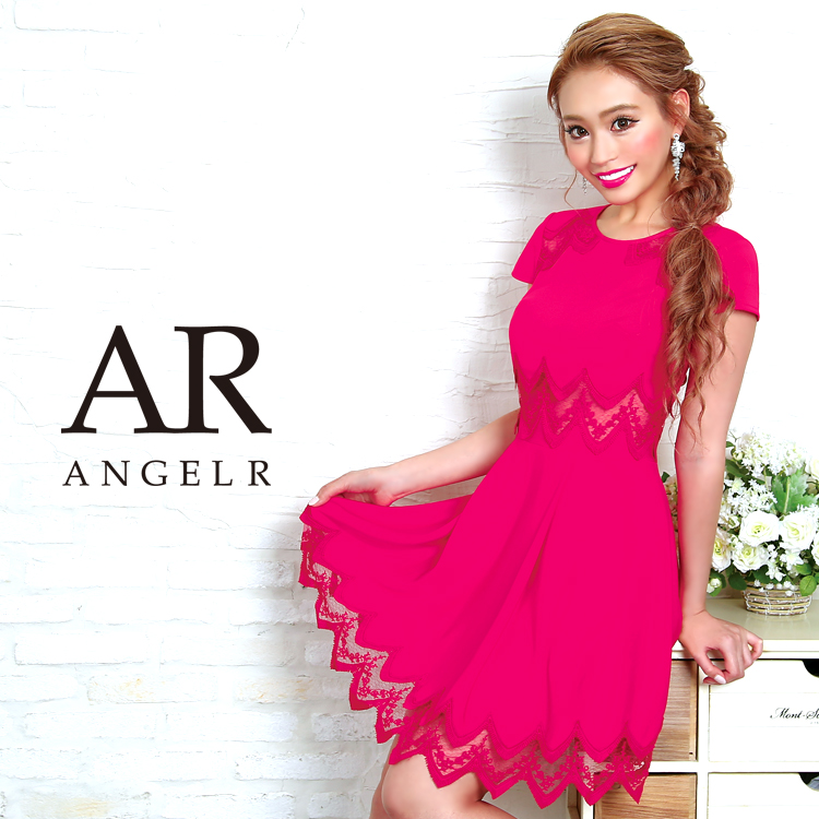 [シアーレースキャップスリーブフレアミニドレス]Angel R(エンジェルアール)|AR8233