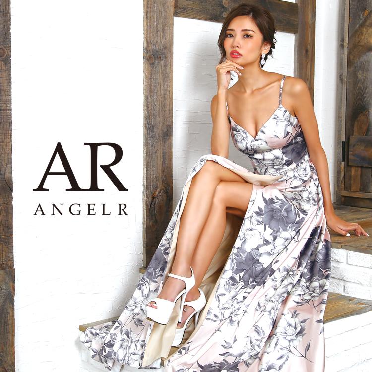 [フラワープリントフレアロングドレス]Angel R(エンジェルアール) AR8236