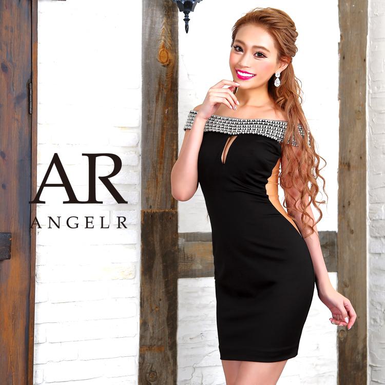 [オフショルダーデコルテデザインカットタイトミニドレス]Angel R(エンジェルアール)|AR8334