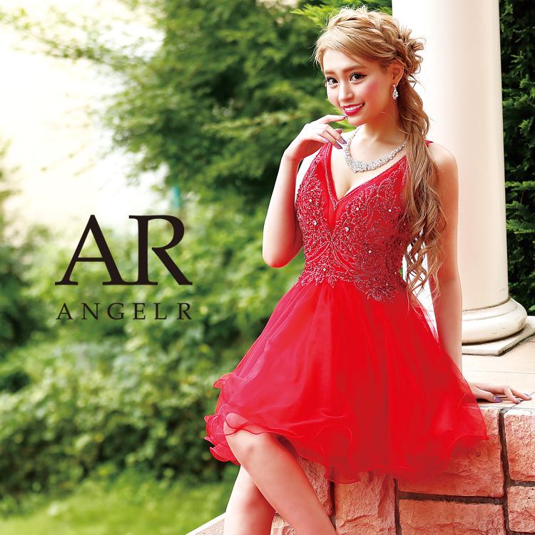 [レースビジューフレアミニドレス]Angel R(エンジェルアール)|AR8340