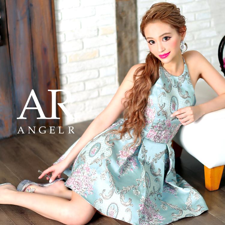 [ホルターネックジャガードフレアミニドレス]Angel R(エンジェルアール)|AR8401