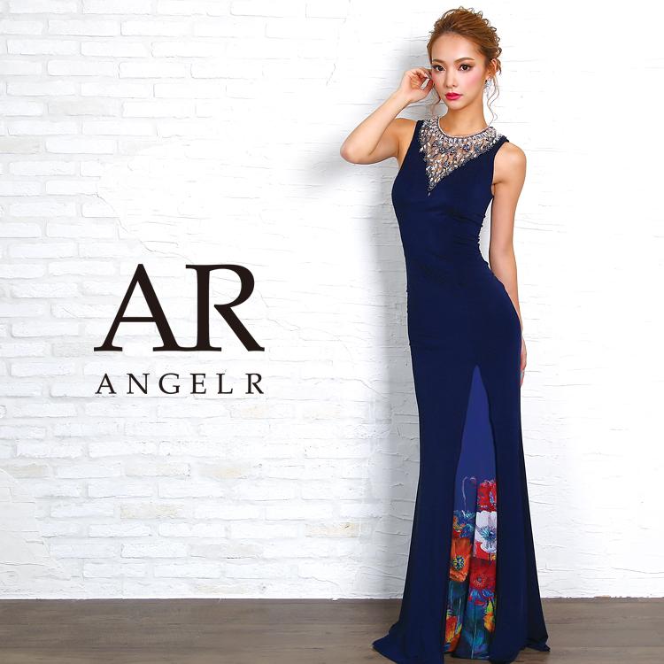 [デコルテシアープリントタイトロングドレス]Angel R(エンジェルアール)|AR8617