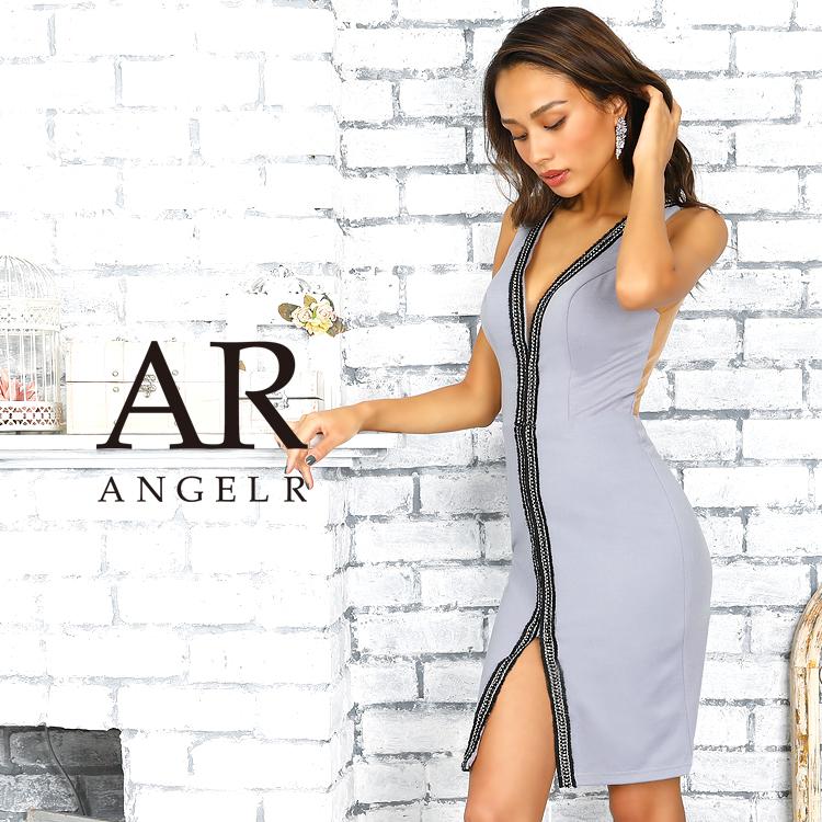 【予約】[ラインデザインスリットタイトミニドレス]AngelR(エンジェルアール)|AR9105【9月中旬~下旬頃より発送】