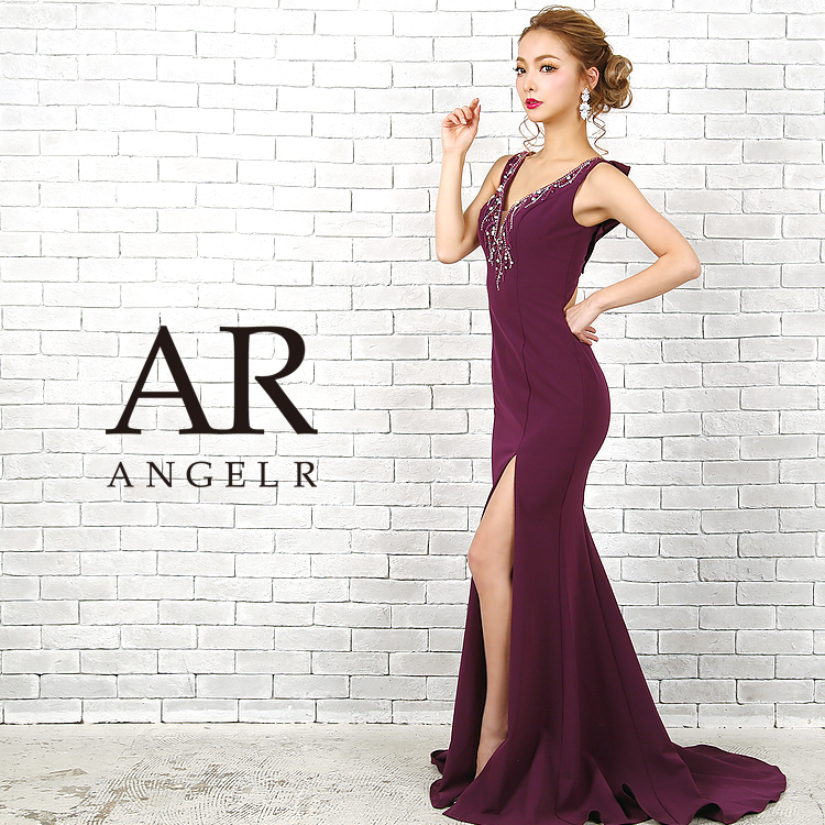 [デコルテビジューバックデザインタイトロングドレス]Angel R(エンジェルアール) AR9205