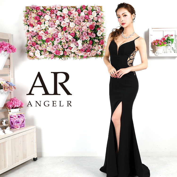 【予約(ネイビー)4月中旬から下旬より発送】[バックビジューデザインタイトロングドレス]AngelR(エンジェルアール)|AR9331