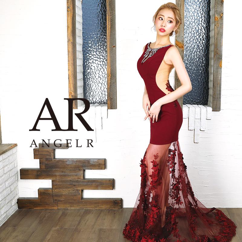 【予約】[フラワーレーススカート切替えロングドレス]AngelR(エンジェルアール)|AR9355【11月下旬~12月上旬頃より発送】