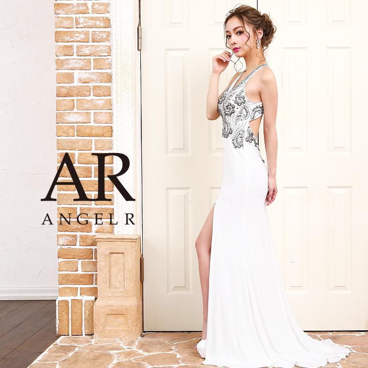 [深Vカットストレッチタイトロングドレス]AngelR(エンジェルアール)|AR9403