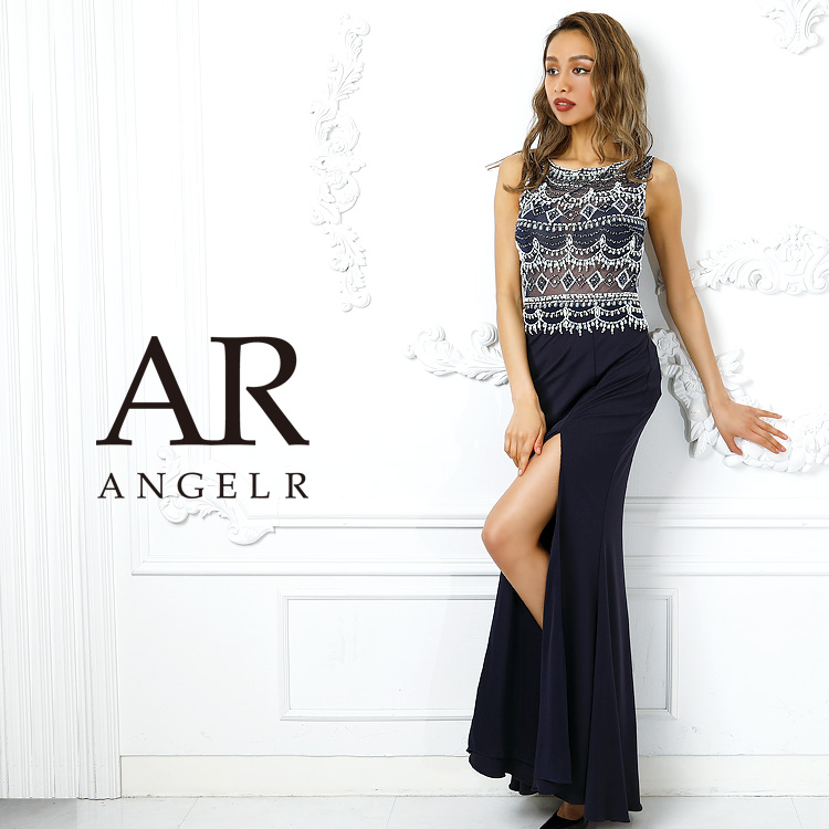 [ビジューメッシュシアータイトロングドレス]AngelR(エンジェルアール)|AR9405