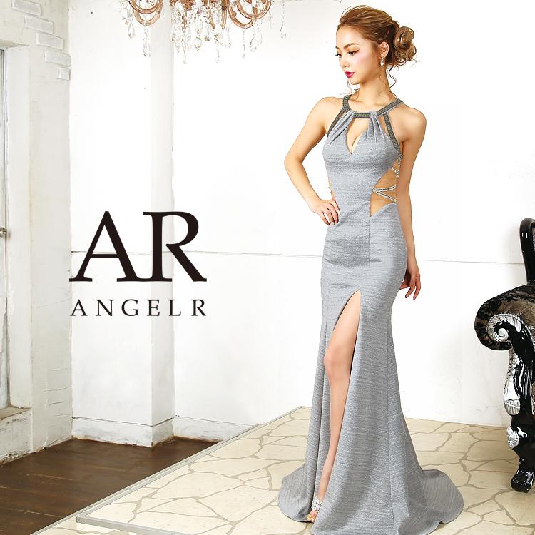 【予約(ワインレッド/S・M)7月中旬~7月下旬発送】[デコルテデザインカットタイトロングドレス]Angel R(エンジェルアール)|AR9805