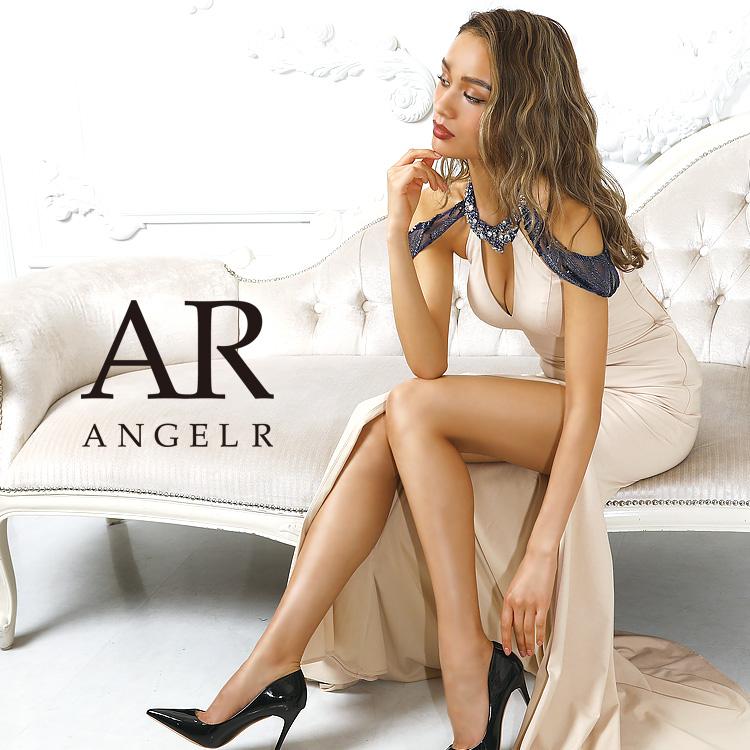 [デコルテカットバックレースアップタイトロングドレス]AngelR(エンジェルアール)|AR9813