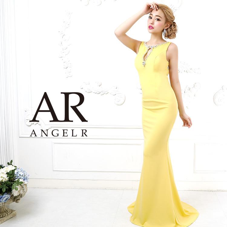 [バックデザインカットビジュータイトロングドレス]AngelR(エンジェルアール)|AR9814