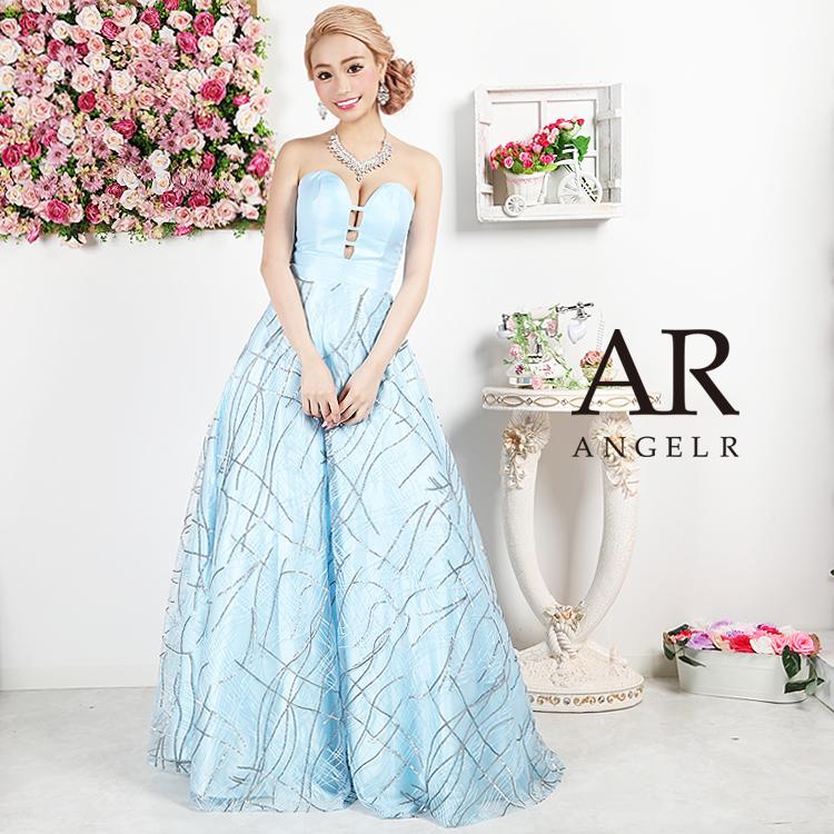 [ハートカットスパンコールレースウエディングドレス]AngelR(エンジェルアール)|AR9818