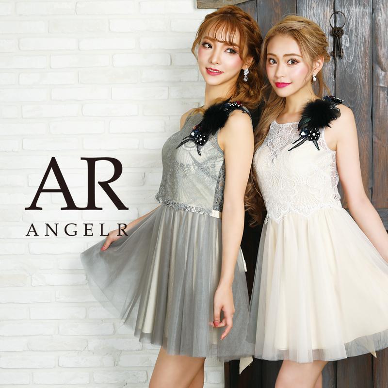 [フラワーモチーフデザインフレアミニドレス]AngelR(エンジェルアール)|AR9831